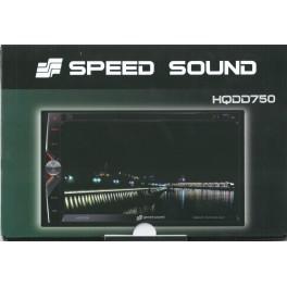 "Speed Sound HQ DD 750GPS, Radio DVD Doble DIN 6.5"""
