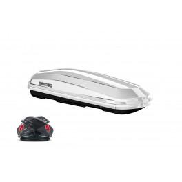 Cofre de techo Diamond 450L Duo, doble apertura, blanco